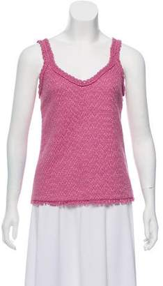 Chanel Crochet-Trim Sleeveless Top w/ Tags