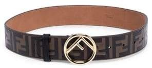 Fendi Leather Logo Belt