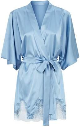 Fleur of England Silk Lace Short Robe