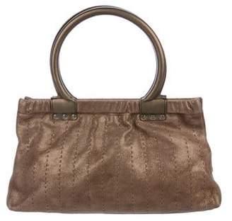 Salvatore Ferragamo Suede Top Handle Bag