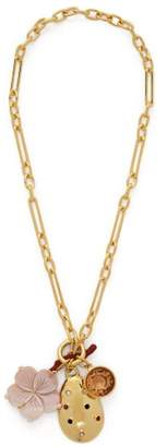 Lizzie Fortunato Windsor Charm Necklace - Womens - Gold