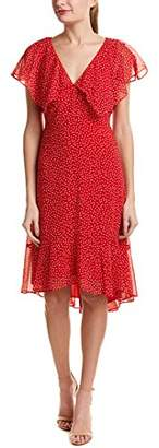 Max Studio Women's Cap Sleeve Polka Dot Dress