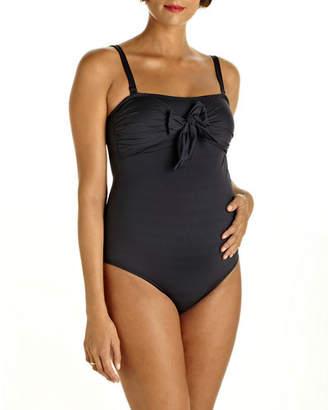 a7dc01e41d Pez D or Maternity Bow-Front One-Piece Swimsuit