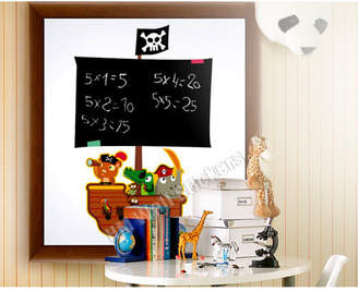Pirates Chalk Board Kids Removable Wall Sticker