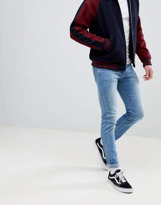 Dr. Denim Snap Shaded Mid Blue Skinny Jeans