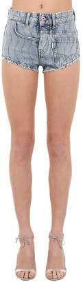Filles a papa Embellished Cotton Denim Hot Shorts