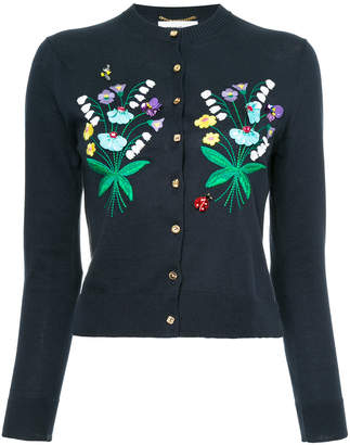 Muveil floral embroidered cardigan