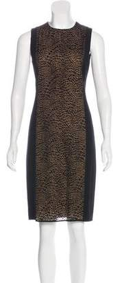 Akris Silk-Paneled Wool Dress