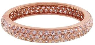 Couture Sethi Wide Pavé Pink Diamond Ring - Rose Gold