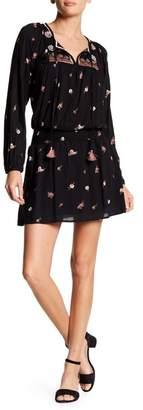 Love Stitch Long Sleeve Print Dress
