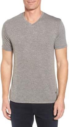 Stone Rose Flame Slubbed V-Neck T-Shirt