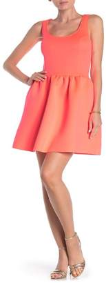 Love...Ady Sleeveless Fit & Flare Scuba Dress