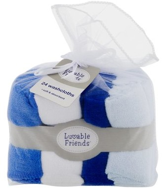 Luvable Friends Baby Washcloths, Classic Boy, 24 Pack