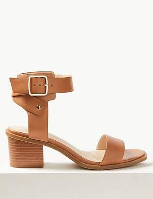 f7d9aeab866f Marks and Spencer Wide Fit Leather Ankle Strap Sandals