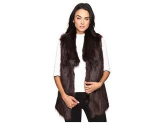 Via Spiga Faux Fur Fox Vest Women's Vest