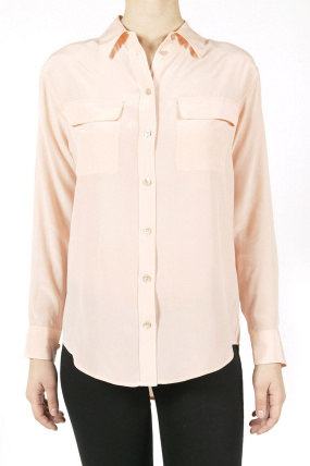 Equipment Signature Button Down Dusty Pink