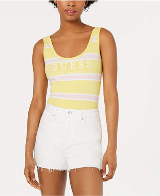GUESS Originals Striped Graphic Bodysuit