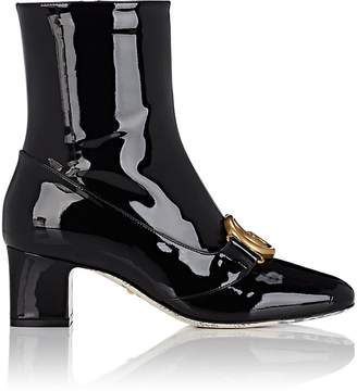 Gucci Women's Embellished Patent Leather Ankle Boots