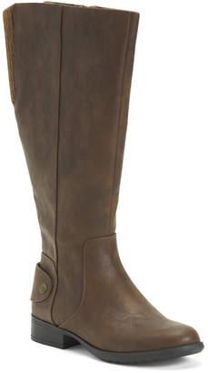 Wide Width Calf Comfort Riding Boots