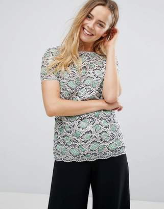 French Connection Boccara Lace Shell Top
