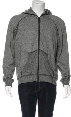 Alexander Wang Leather-Trimmed Zip-Up Sweatshirt