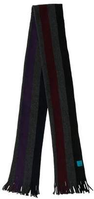Paul Smith Striped Fine Knit Scarf