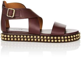 Chloé Women's Chain-Embellished Leather Platform Sandals