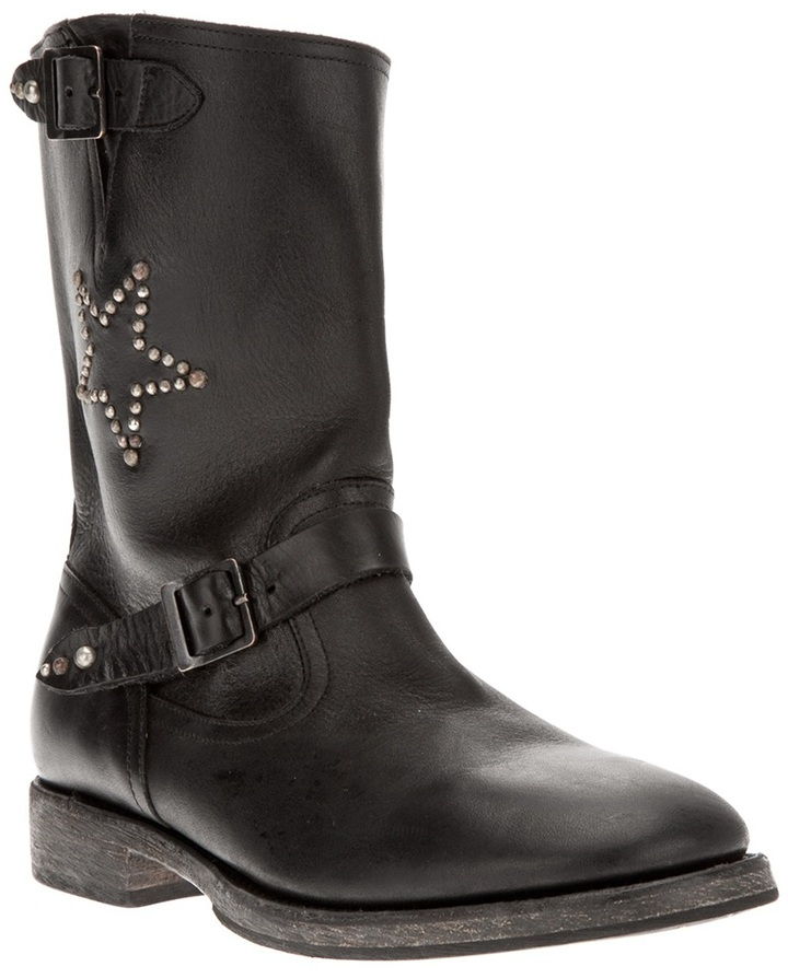 Hollywood Trading Company Htc studded biker boot