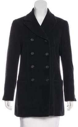 Giorgio Armani Double-Breasted Virgin Wool Coat