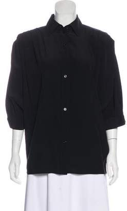 Givenchy Silk Button-Up Top