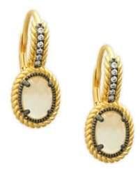 Freida Rothman Gilded Cable Oval Drop Earrings