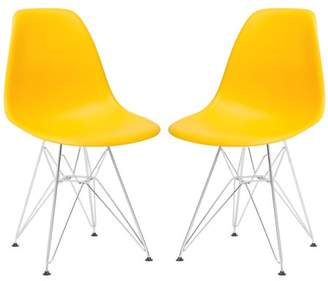 Poly and Bark Padget Side Chair in Yellow (Set of 2)
