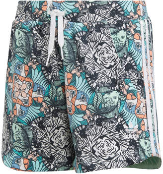 adidas Big Girls Zoo-Print Shorts