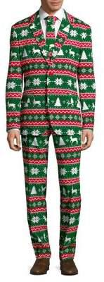 Opposuits Christmas Three-Piece Festive Slim-Fit Suit