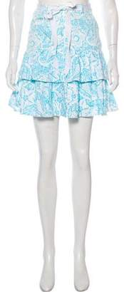 Oscar de la Renta Printed Mini Skirt