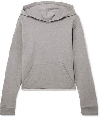 RtA Cicely Zip-detailed Cotton-terry Hoodie - Light gray