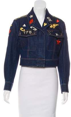 Sonia Rykiel 2016 Embroidered Denim Jacket