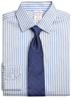 Brooks Brothers Madison Classic-Fit Dress Shirt, Heathered Twin Stripe