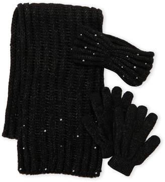 Betsey Johnson 3-Piece Scarf Headband & Glove Gift Set
