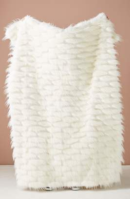 Anthropologie Faux Fur Throw Blanket