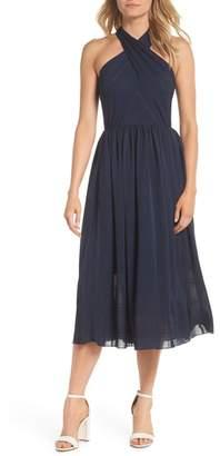 Gal Meets Glam Mia Twist Chiffon Midi Dress