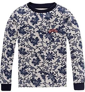 Scotch & Soda R ́Belle Girl's Crewneck Allover Sweat Sweatshirt,(Manufacturer Size: 12)