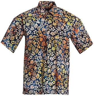 b0e9d7718c6 Saks Fifth Avenue Cotton Hawaiian Shirt