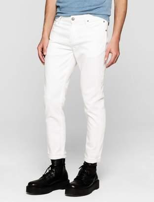 Calvin Klein sculpted clean white slim ankle jeans