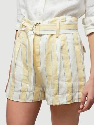 Frame Linen Stripe Short