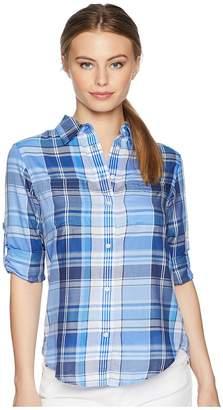 Lauren Ralph Lauren Petite Plaid Cotton Twill Shirt Women's Clothing