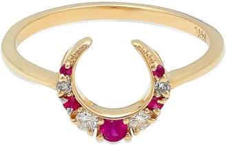 ICONERY x Stone Fox Crescent Diamond & Stone Ring