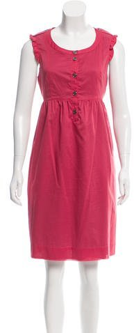 Burberry Burberry Brit Sleeveless Knee-Length Dress