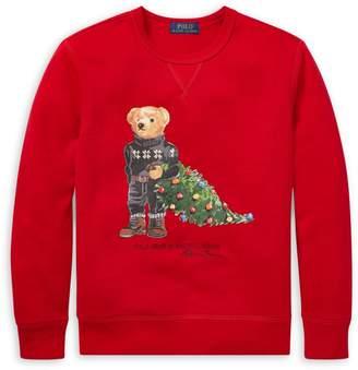 Ralph Lauren Childrenswear Boy's Graphic Cotton-Blend Sweater
