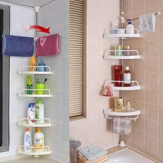 Qiilu Triangular Bathroom Shower Shelf, Bathtub Shower Caddy Holder, Shower Soap Sponge Holder, Suction Soap Dish Holder, Storage Basket Hanger for Bathroom / Kitchen / Bedroom